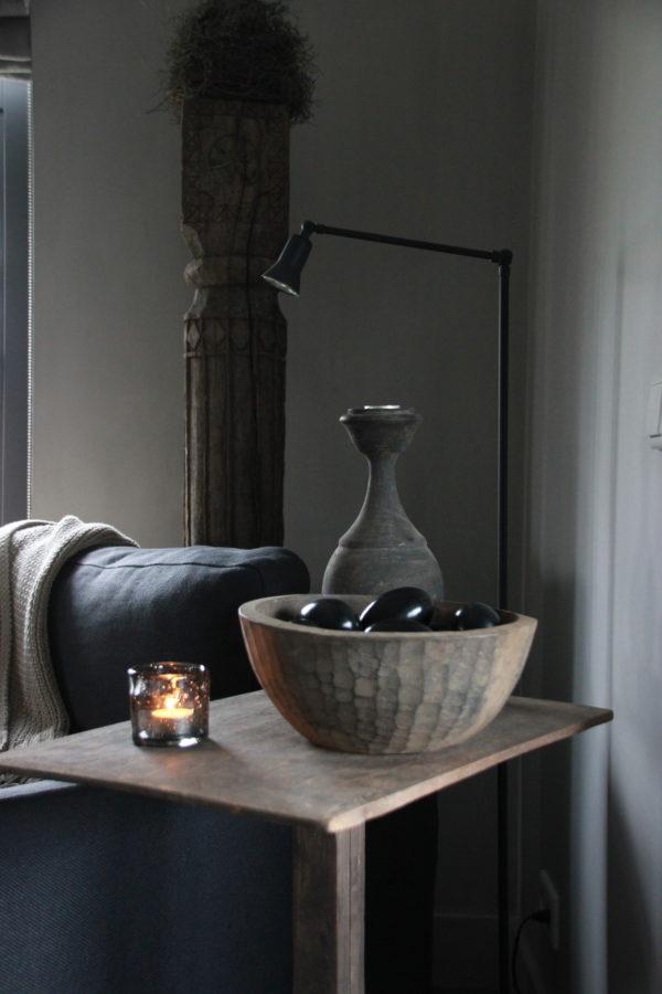 Ronde houten schaal M