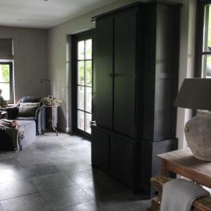 Cabinet 4 deurs Black Grey