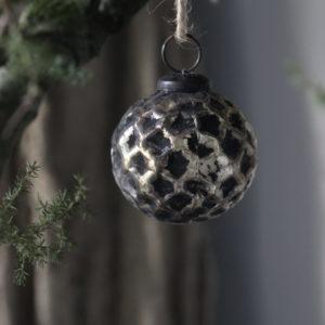 Kerstbal XS met gouden look