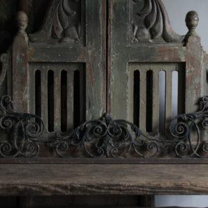 Oud ijzeren ornament