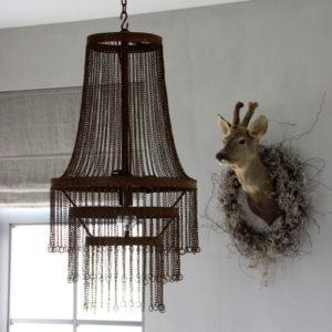 Metalen hanglamp ketting roest