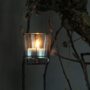 Windlichtje met hengsel
