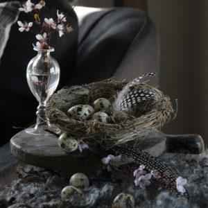 Vogelnest rattan naturel
