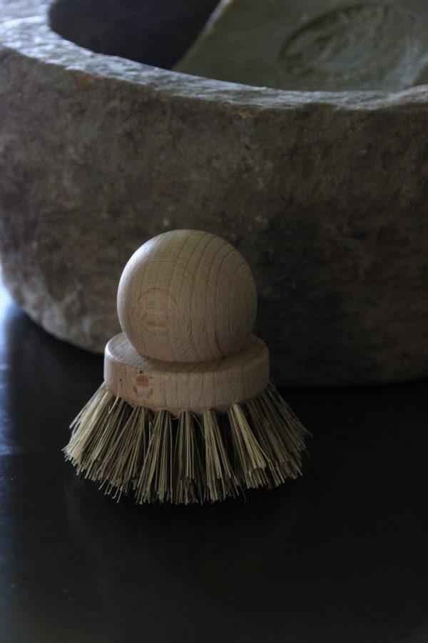 Kleine sauspan borstel/afwasborstel