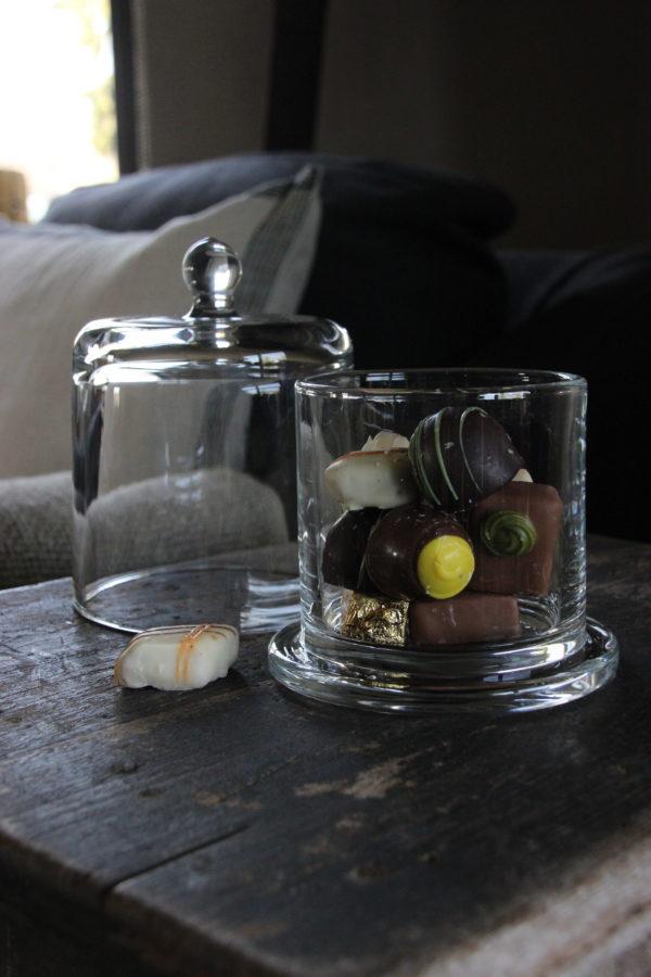 Glazen stolp/voorraadpotje