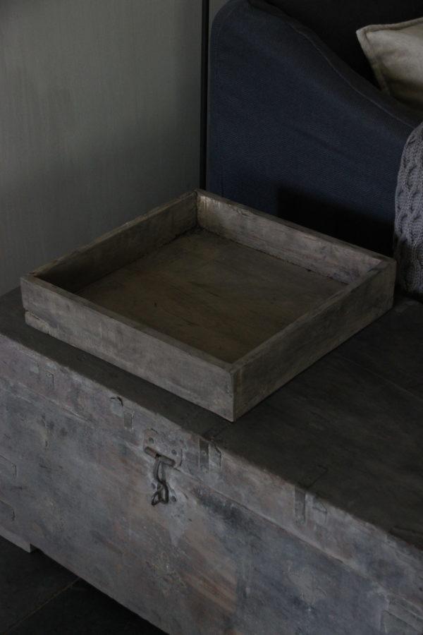 Houten bak 40x40x8 cm