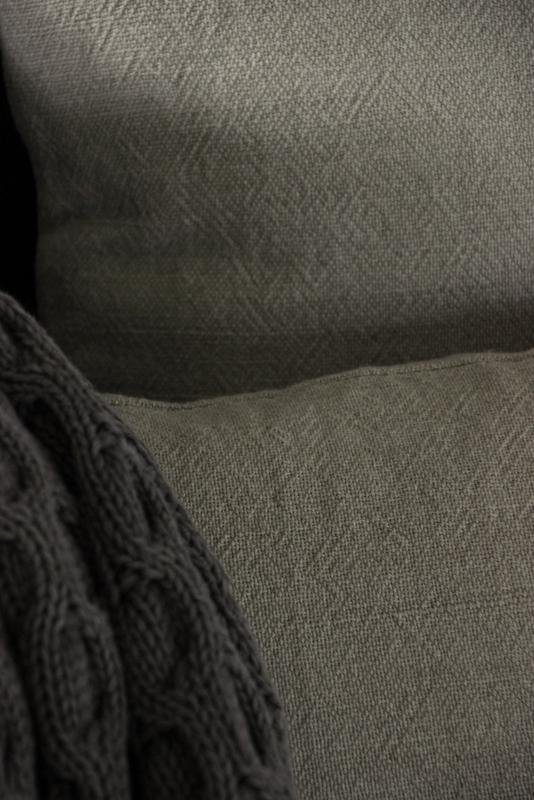 kussen taupe/naturel 50x50 cm