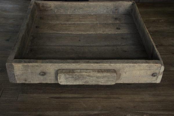 Oude houten tray 50x50 cm
