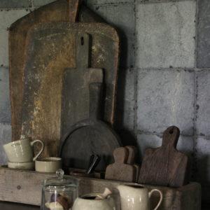Oude houten tray