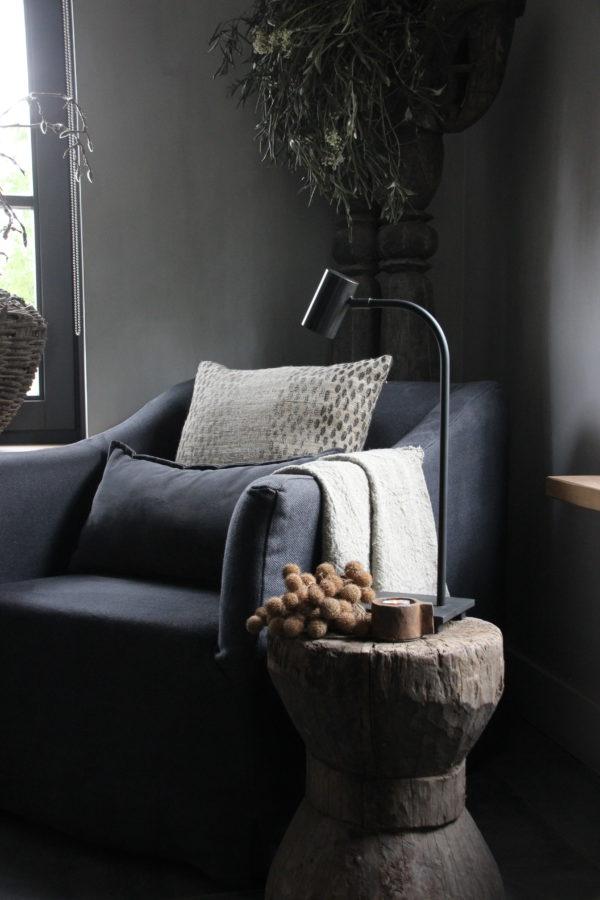 Tafellamp donkerbruin zwart finish