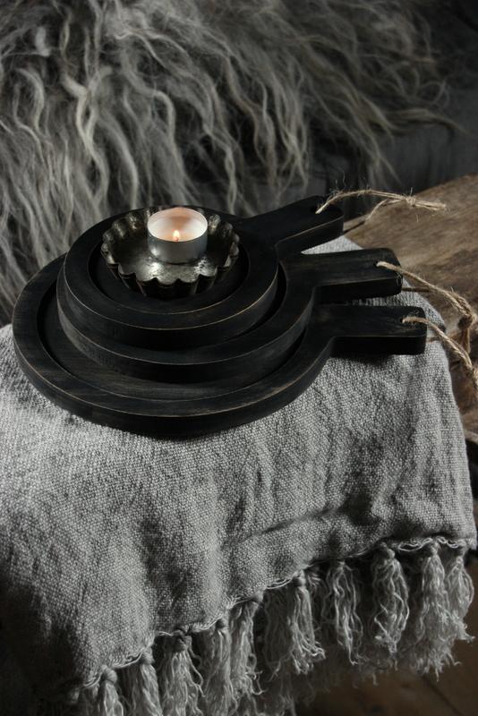 amuseplankje/onderzetter zwart
