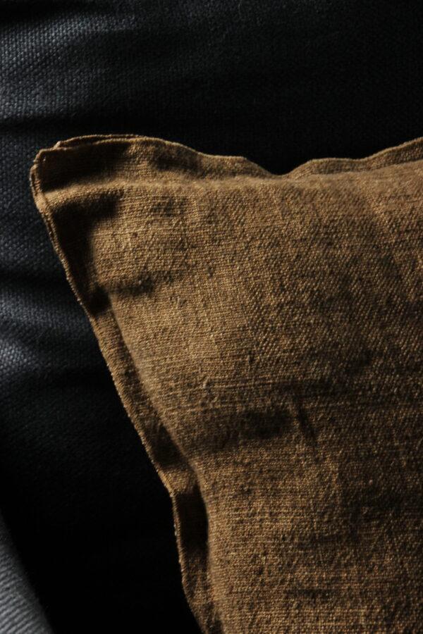 Linnen kussen 50x50 cm Burnt Brown