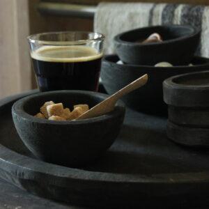 Set houten bakjes
