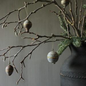 Set van 4 metalen kersthangers klein