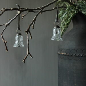 Kersthanger glas bel