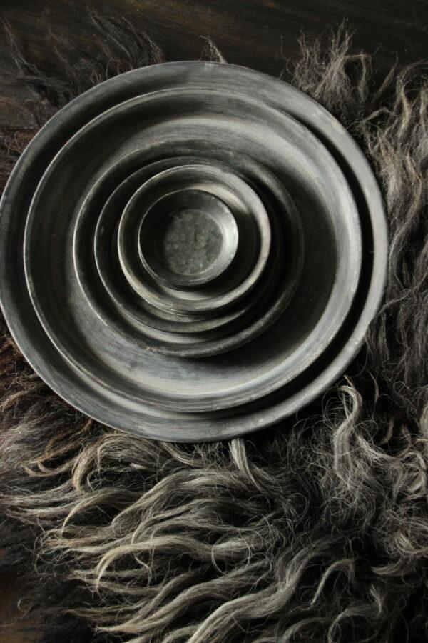 Grijs metalen onderzetter / dienblad 30 cm