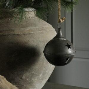 Metalen kerstdruppel M antraciet/zwart S