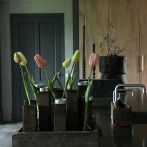 Bos roze kunst tulpen
