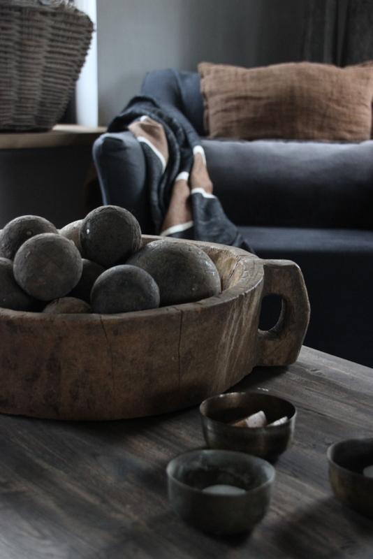 Oude houten bal L