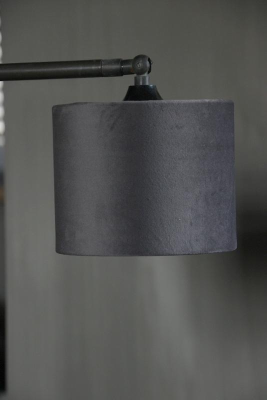 Lampenkap fluweel gris/t 151512 Aura Peeperkorn