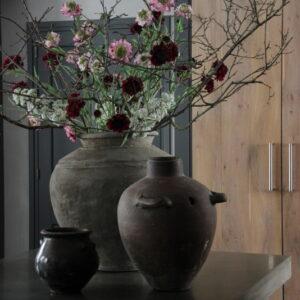 Spring flower wit kunst 63 cm