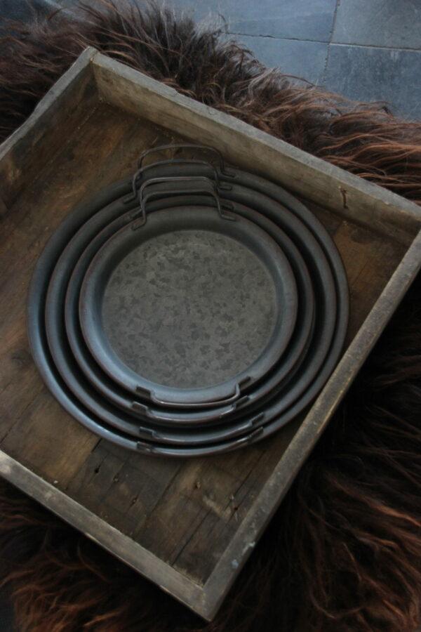 Metalen dienblad met handvatten maat XS
