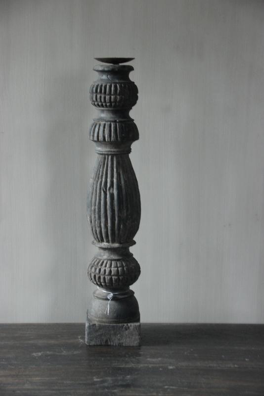 Kandelaar antiek zwart