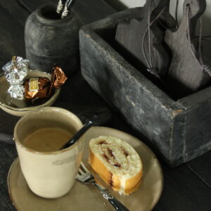 Tabo klein ontbijtbord/gebaksbord rond creme
