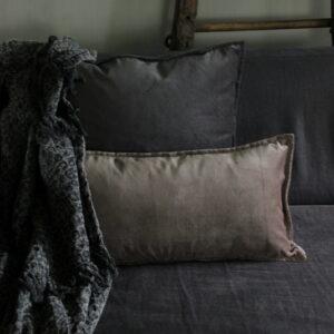 Kussen velvet Dark Grey 50 x 50 cm