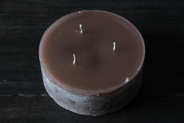 Grote drijfkaars bruin diameter 15 cm