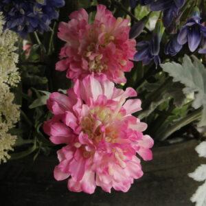Scabiosa roze 69 cm kunst