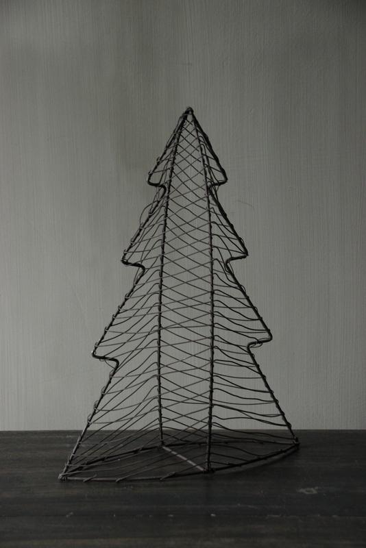 Metalen draad kerstboom M
