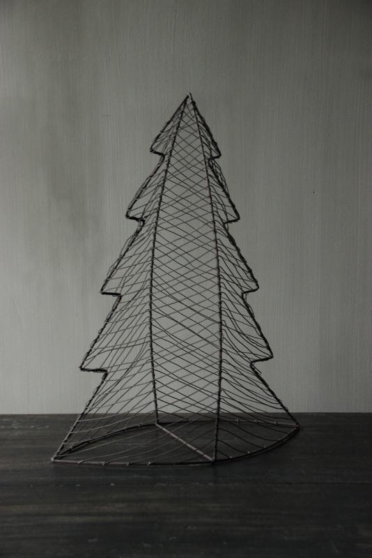 Metalen draad kerstboom L